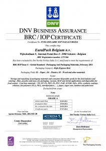 EuralPack - BRC Certificaat (EN)